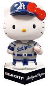 2013 SGA Dodgers Hello Kitty Bobblehead New