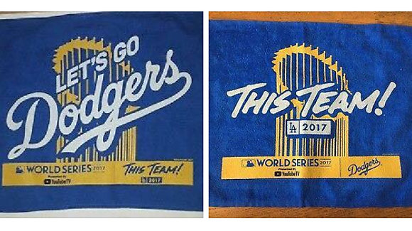 2017 Dodgers World Series Game #1 And #2 Rally Towels