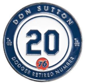 2016 SGA Dodgers Pin Don Sutton #20