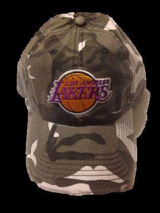 2014 Lakers Military Distressed Hat Velcro Veteran