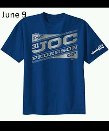 2015 SGA Dodgers  Joc Pederson T-shirt