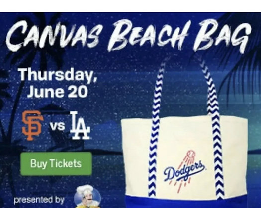 2019 DodgersCanvas bag SGA New
