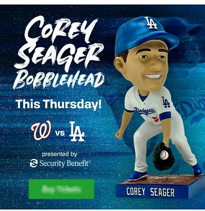 2019 Corey Seager Dodgers Bobblehead new