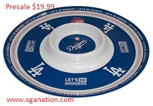 2017  Dodgers Salsa and Chip Plate SGA
