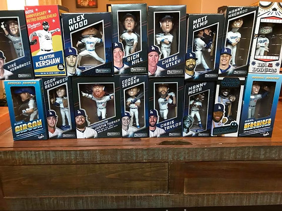 2018 Dodgers Bobblehead Set
