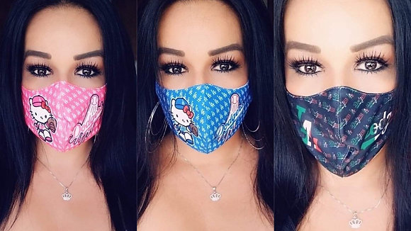 3 Masks Custom  Mexico Hk Pink/Blue