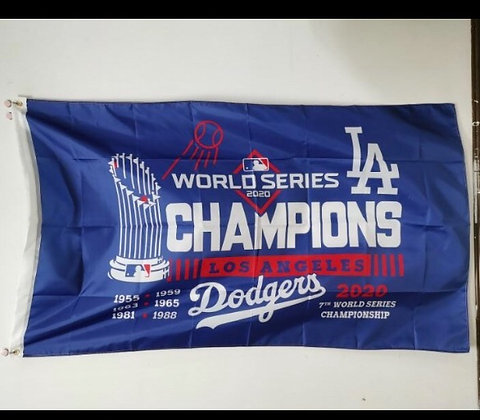 Dodgers 2020  World Series Flag 3x5 feet 100% Polyester
