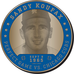 2017 SGA DODGERS Sandy Koufax Greatest Moment Coin