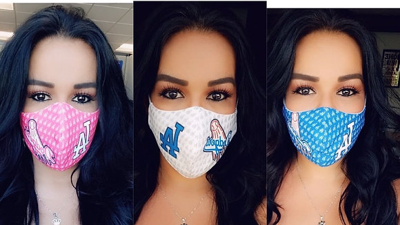 3 Masks Custom Pink/White/Blue