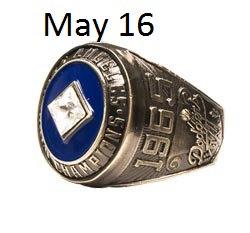 2015 SGA Dodgers Ring World Series 1965