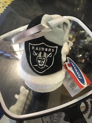 """Raiders Christmas Ornament Plush 4"""" inches"""