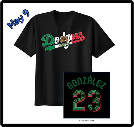 2017 Dodgers Mexican T-Shirt Adrian Gonzalez