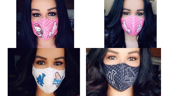 4 Masks Custom HkP/Pink/white/Black