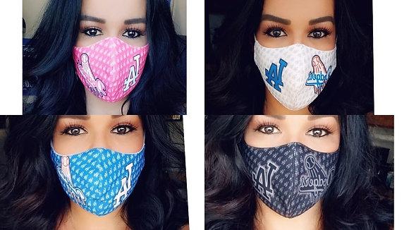 4 Masks Custom Pink/Black/White/Blue