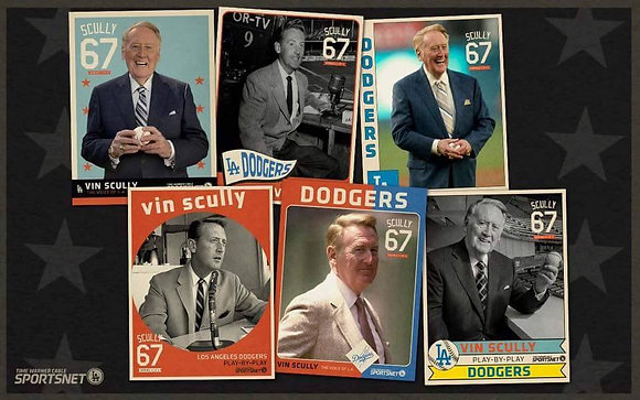 2016 Stadium Exclusive Poster Vin Scully SET ALL 6