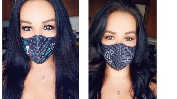 2 Masks Custom  Mexico and Black