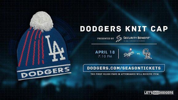 2017  Los Angeles Dodger SGA Knit Cap New SGA