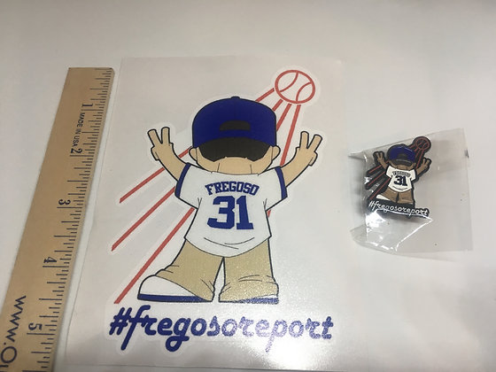 5 inch Die Cut Decal And Pin Fregoso Report