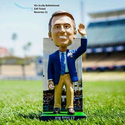 2015 SGA Dodgers Vin Scully Bobblehead NEW