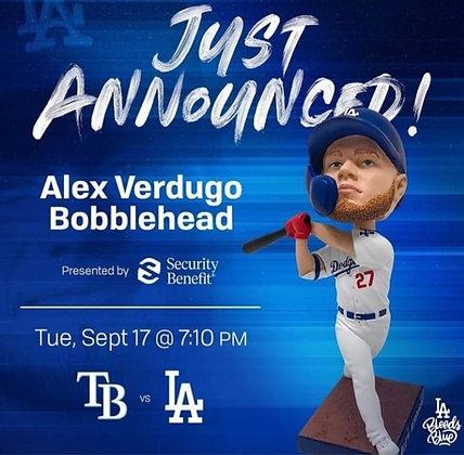 Alex Verdugo  2019 Dodgers  bobblehead  new SGA