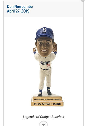 2019 Dodgers Don Newcombe  bobblehead  new