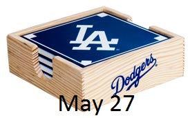 2015 SGA Dodgers Coaster Set  5/27/2015