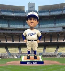 2014 SGA Dodgers Babe Ruth Bobblehead New