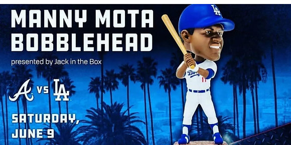 Manny Mota Bobblehead  Dodgers 2018