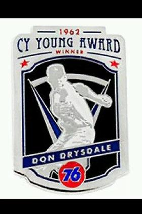 2015 SGA Don Drysdale Presale Cy Young Pin