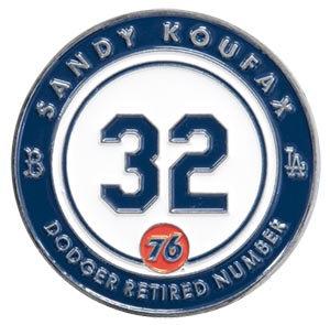 2016 SGA Dodgers Retired Pin #32 Sandy Koufax