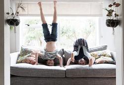 Children Doing Headstands