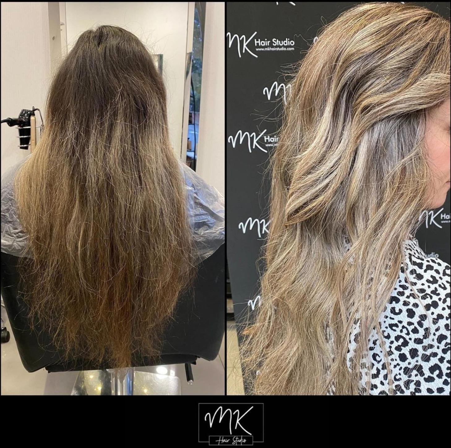 7 hour hair transformation ✨