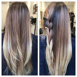 #ombre #sombre #colorhair #blonde #longh