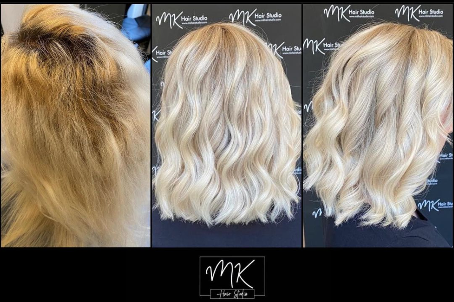 Before & after - Ice blonde ❄️love this transformation