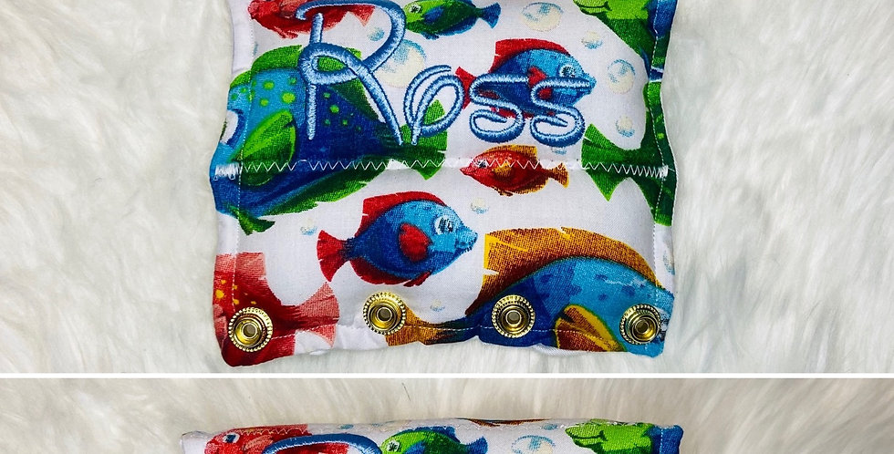 Fish on White Bar Cover