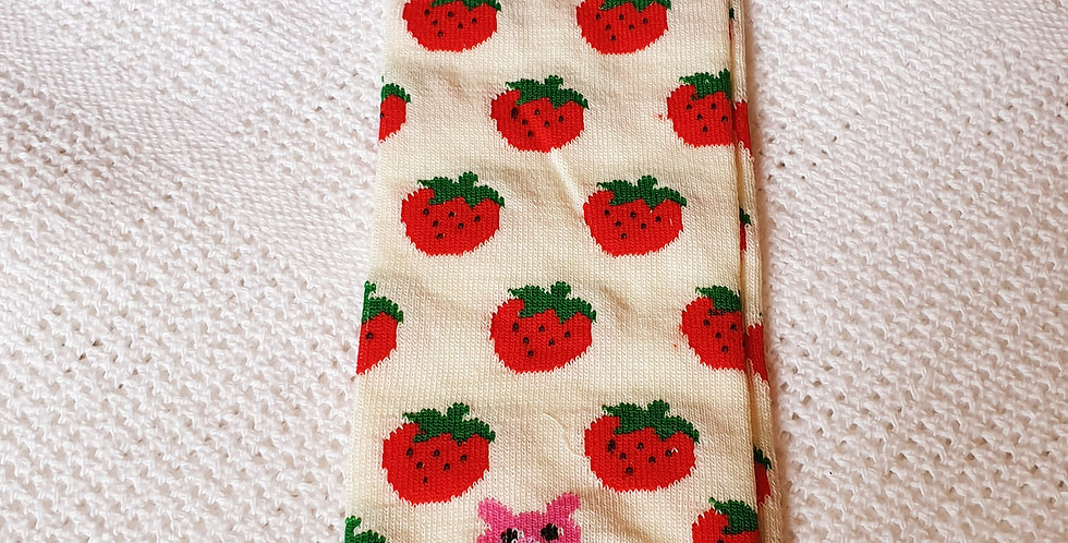Strawberries on Cream Leg Warmers