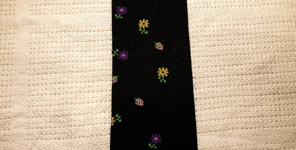 Flowery Black Leg Warmers