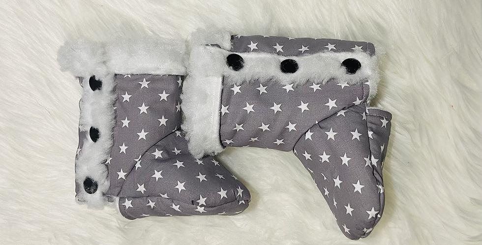 Stars on Grey Booties