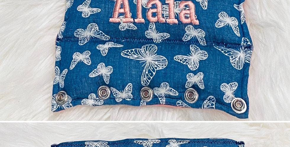 Denim Look Butterflies Bar Cover