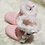 Thumbnail: Pale Pink Quilted Cotton Booties