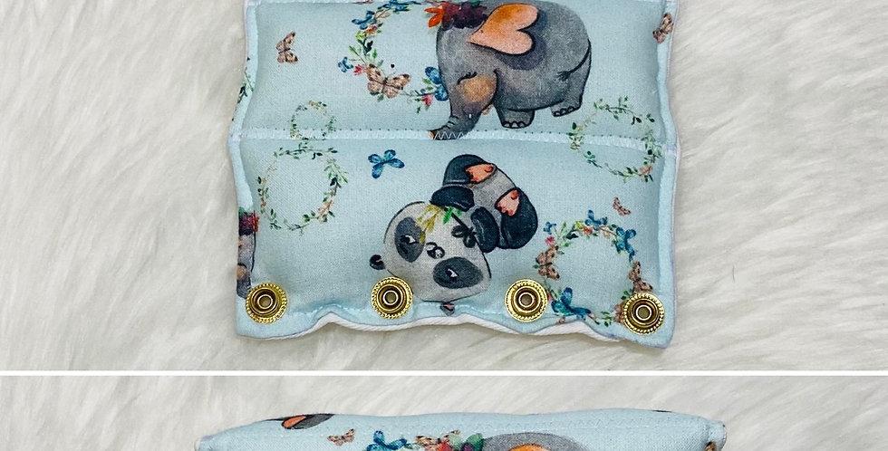 Hippos, Pandas & Elephants on Light Blue Bar Cover