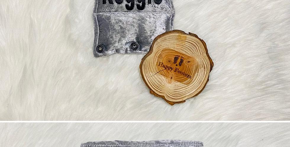 Silver Crushed velvet Bar Cover