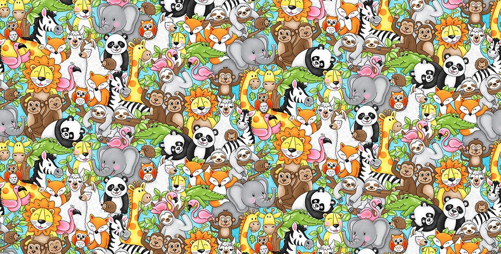 Jungle Animals Stacked Bar Cover