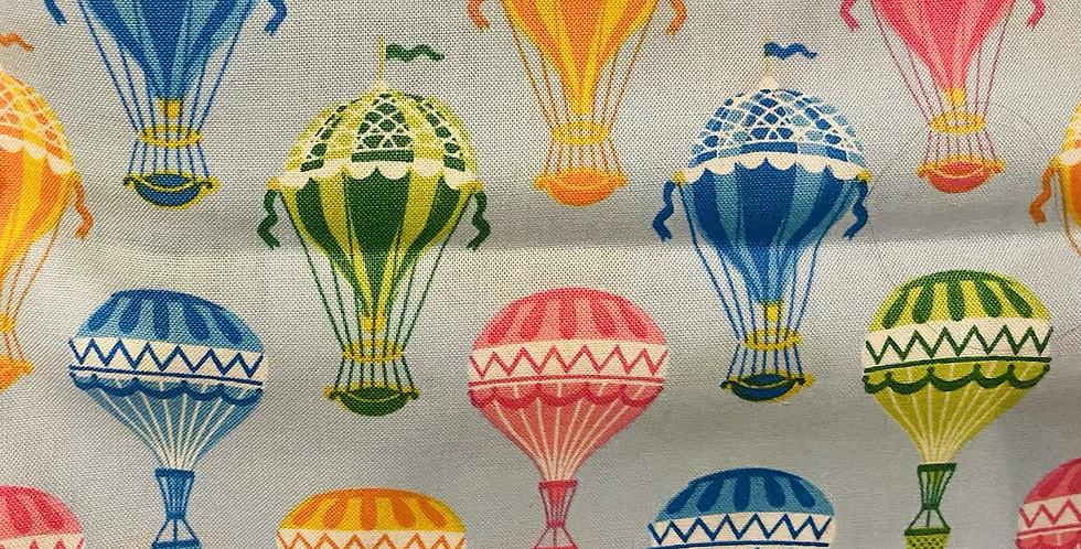 Hot Air Balloon on light blue Bar Cover