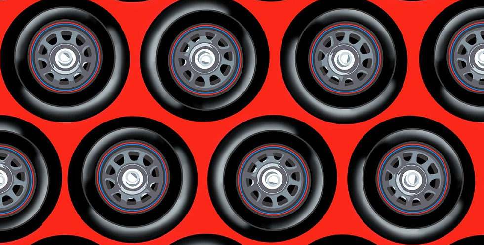 Racing Wheels Red Bar Cover