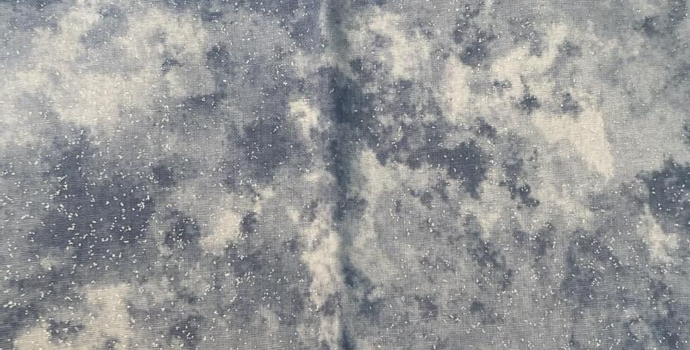 Denim glitter effect tye dye (cotton) Bar Cover