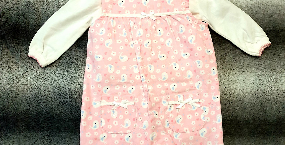 Girls Fine Cord Dungaree (2 Piece)