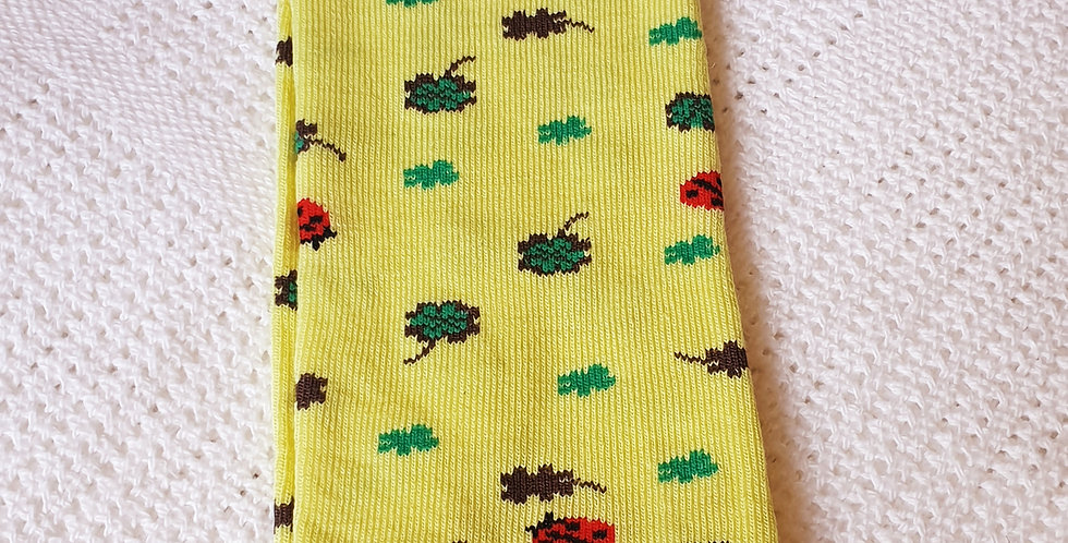 Clover and Ladybird on Yellow Leg Warmers