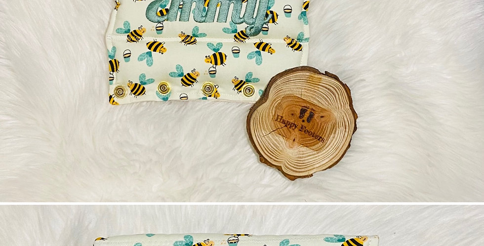 Bees on cream Bar Cover