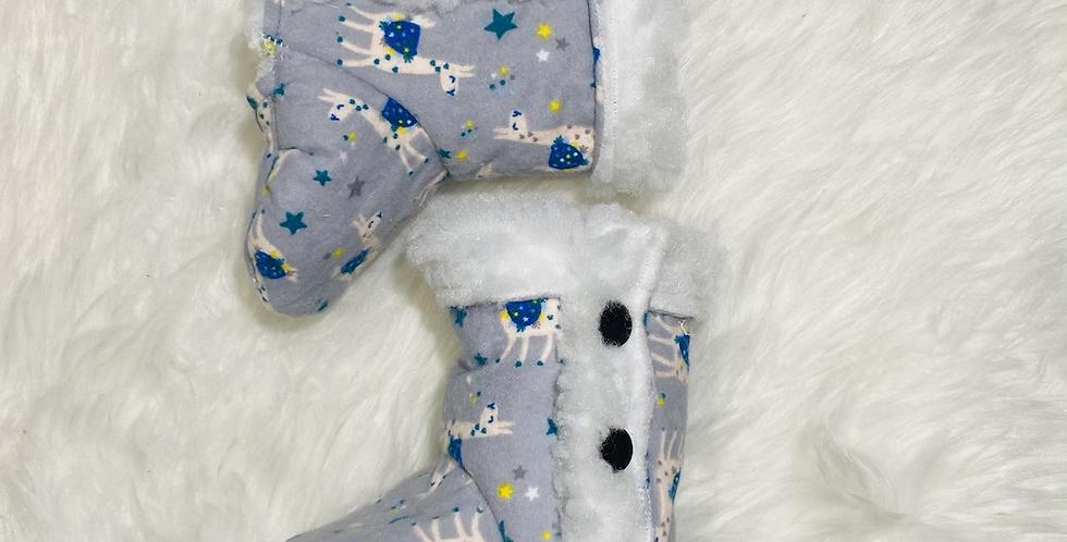 Llamas Flannelette Fabric Booties